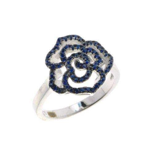 Кольцо женское серебряное 925* родий цирконий Арт 15 3 1056с