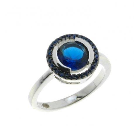 Кольцо женское серебряное 925* родий цирконий Арт 15 3 1198с