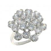 Кольцо женское серебряное 925* родий цирконий Арт 15 3 7616