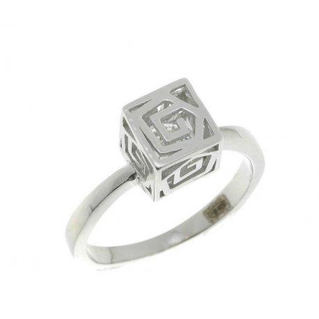 Кольцо женское серебряное 925* родий цирконий Арт 15 3 1120