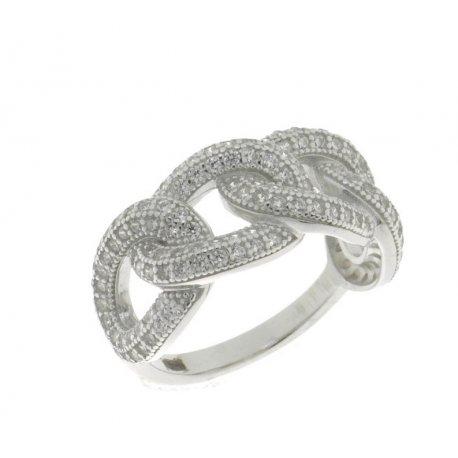 Кольцо женское серебряное 925* родий цирконий Арт 15 3 8322