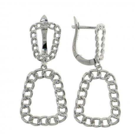 Сережки жіночі срібні 925* родій Арт 11 5 4348