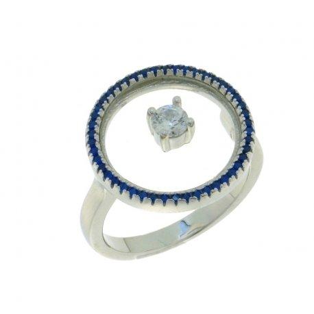 Кольцо женское серебряное 925* родий цирконий Арт 15 5 2812