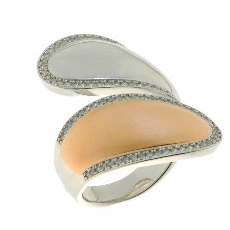 Кольцо женское серебряное 925* родий цирконий Арт 15 5 3883кб