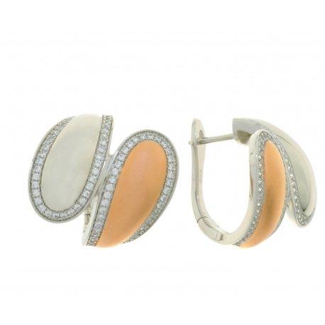 Сережки жіночі срібні 925* родій цирконій Арт 11 5 3883кб