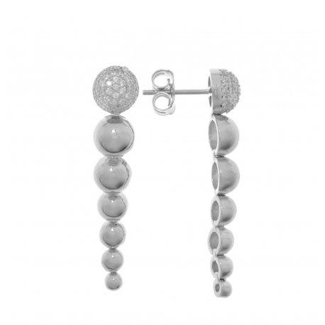 Серьги женские серебряные 925* родий цирконий Арт 11 5 3116