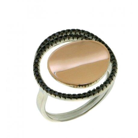 Кольцо женское серебряное 925* родий цирконий Арт 15 5 2358к
