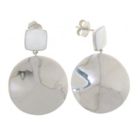 Серьги женские серебряные 925* родий цвет. эмаль Арт 11 5 4287б