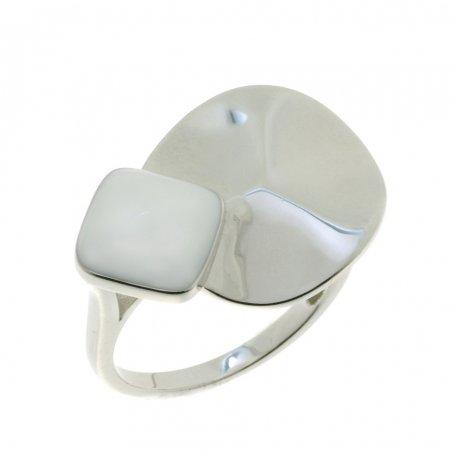 Кольцо женское серебряное 925* родий цвет. эмаль Арт 15 5 4287б