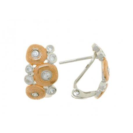 Сережки жіночі срібні 925* родій цирконій Арт 11 5 4203кб