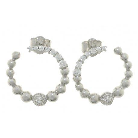 Серьги женские серебряные 925* родий цирконий Арт 11 5 2367
