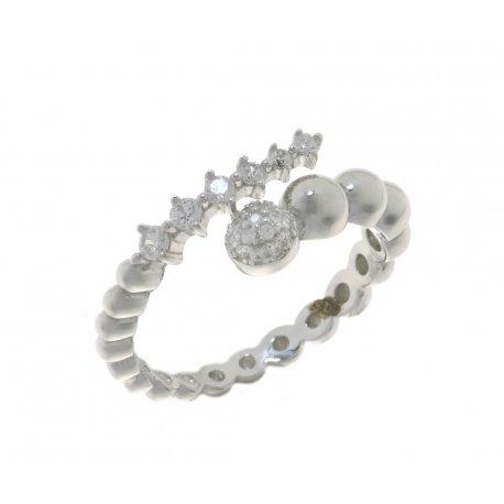 Каблучка жіноча срібна 925* родій цирконій Арт 15 5 2367