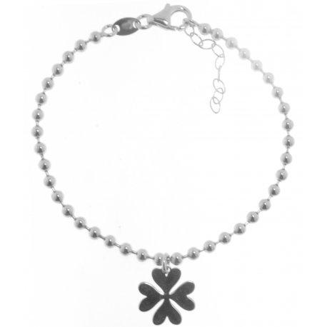Браслет женский серебряный 925* родий Арт 221 4 052
