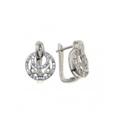 Сережки жіночі срібні 925* родій цирконій Арт 11 2 0390