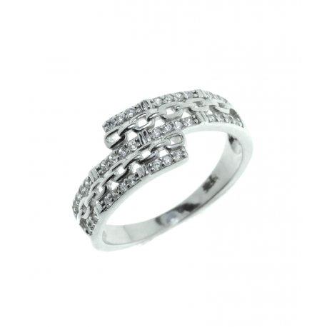 Каблучка жіноча срібна 925* родій цирконій Арт 15 2 0390