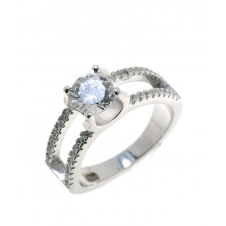 Каблучка жіноча срібна 925* родій цирконій Арт 15 3 3161