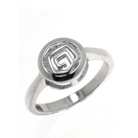 Каблучка жіноча срібна 925* родій цирконій Арт 15 3 0939