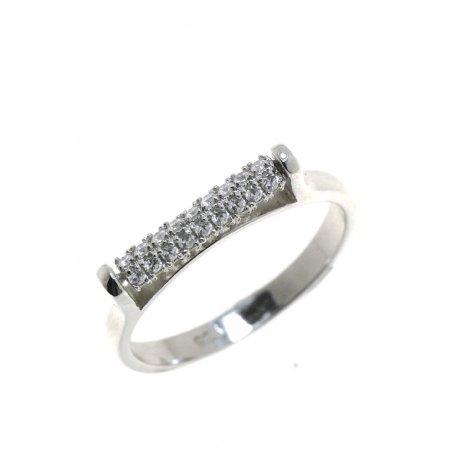 Каблучка жіноча срібна 925* родій цирконій Арт 15 3 0829