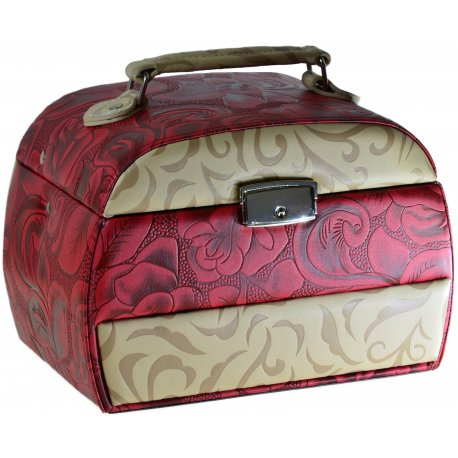 Шкатулка для хранения ювелирных украшений иск. кожа Арт 420
