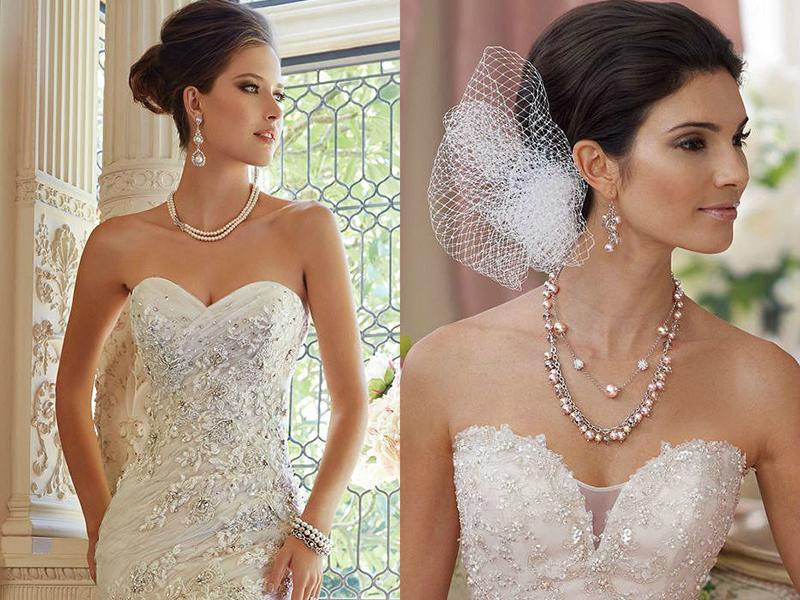 украшения из жемчуга для невесты